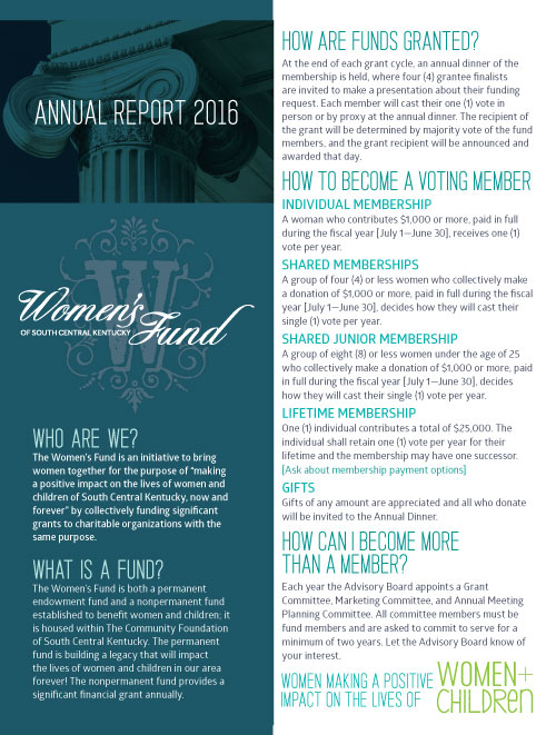 Women's Fund annual report 2016