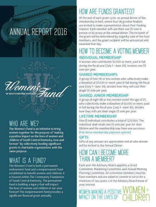 Women's Fund annual report 2016