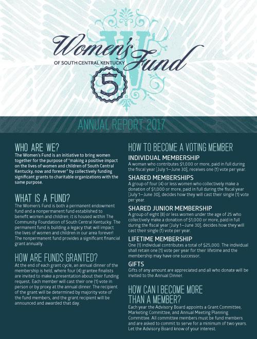 Women's Fund annual report 2017