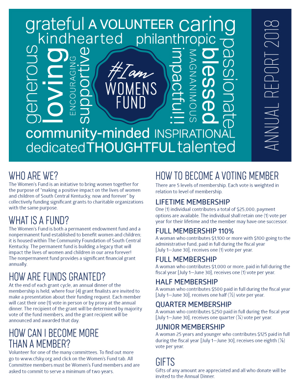 Women's Fund annual report 2018